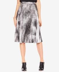 pleated skirts vince camuto metallic pleated skirt skirts women macy s