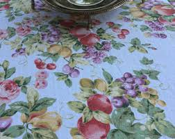 Patio Tablecloth Round Summer Tablecloth Etsy