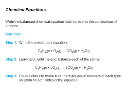 12 chemical equations write the balanced chemical equation that represents the combustion of propane