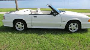 ford mustang 92 92 ford mustang gt350 convertible white for sale photos