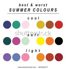 worst colors stock vector seasonal color analysis palette stock photo photo