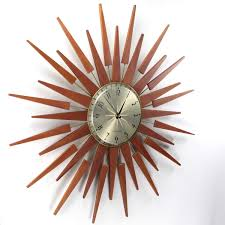 sunburst wall clock retro sunburst clocks for unique sunburst