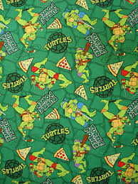 tmnt wrapping paper tmnt mutant turtles pizza toss green cotton fabric