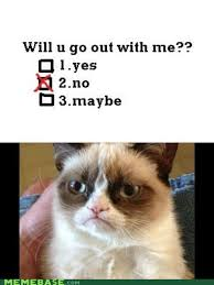 Grumpy Cat No Memes - not in the mood for dating grumpy cat know your meme
