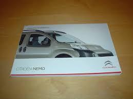citroen nemo owners handbook light van u0026 combi 1 4 petrol engine