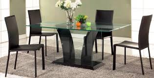 Glass Top Dining Table And Chairs Dining Room Modern Contemporary Dining Chairs Glass Dining Room