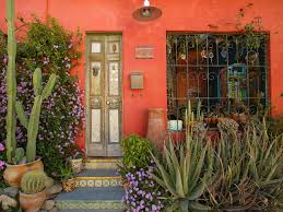 santa fe style homes tucson az home design and style tiles punched tin doors wrought iron adobe mailbox potted