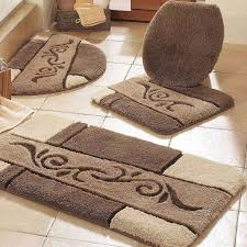 awesome black and gold bathroom rugs verambelles