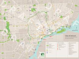 Map Of Michigan And Canada by Detroit Greenways Coalition Making Detroit A World Class City