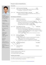 example of curriculum vitae jospar