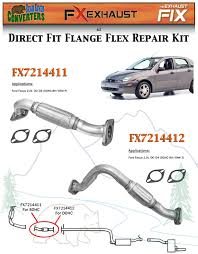 fx7214412 direct fit exhaust flange repair flex pipe replacement