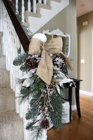 burlap decorated christmas tree christmas lights decoration