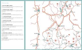 Annecy France Map by Wild Swimming France Wild Things Publishing