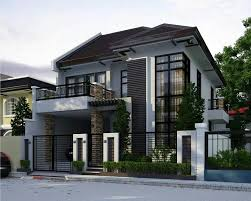 two house two storey modern house brighter color perhaps dom house