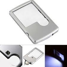 pocket magnifier with light magnifying glass with light ebay