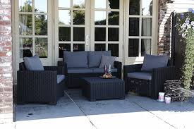 Salon Allibert by Allibert By Keter California 3 Seater Rattan Sofa Outdoor Garden