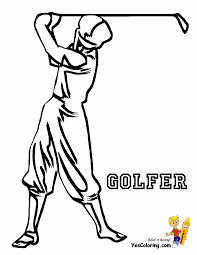 two fisted golf coloring golf sports coloring free golf