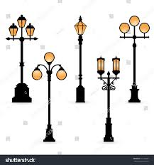 vector set lights silhouettes stock vector 511158307