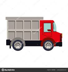 colorful silhouette with dump truck u2014 stock vector grgroupstock