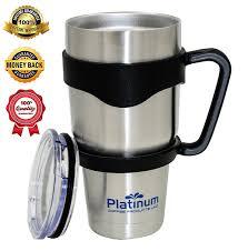 amazon com premium double stainless steel tumbler with handle