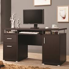 Solid Wood Computer Desk With Hutch by Office And Custom Wood Computer Desk Tikspor