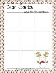fun printable preschool letter to santa the kid u0027s fun review