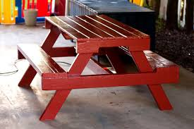 Make Your Own Picnic Table Bench by Ana White Pallet Picnic Table How To Diy Projects