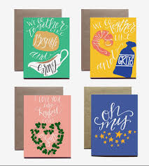 lettered southern sayings note card set cards