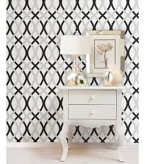 Hooks And Lattice by Wallpops Nuwallpaper Black And Silver Lattice Peel And Stick