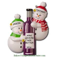 personalized ornaments wine bottle