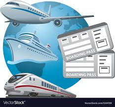 Travel tickets royalty free vector image vectorstock