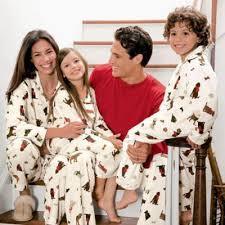 woof woof matching family pajamas card pic
