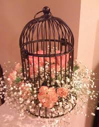 great ideas to decorate bird cages for table decorations using