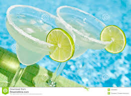 margarita cocktail by the pool stock photography image 10666902