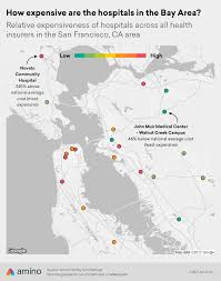 san francisco hospitals map the 5 most and least expensive hospitals in the san francisco bay area