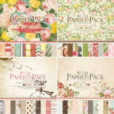 Scrapbook Paper Packs 12 Inch Scrapbooking Paper Pad Vintage Blooming Flower Scrapbook