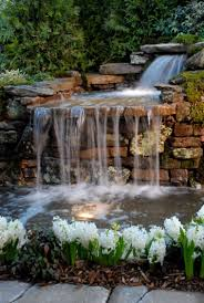 diy outdoor pond waterfall outdoor designs