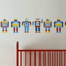 robots border stencil reusable stencils for nurseries kids