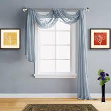 warm home designs faux linen dusty blue sheer curtains in 7 sizes