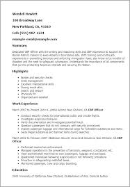 Immigration Consultant Resume Professional Cbp Officer Templates To Showcase Your Talent