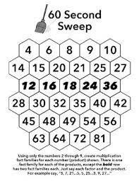 sixty second sweep single digit multiplication by the buzzy teacher