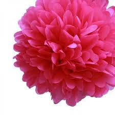 tissue paper pom poms fuchsia 20in