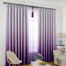 window curtain for kids bedroom solid color gradient blackout