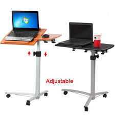 bed table on wheels over the bed table with wheels adjustable hospital home laptop tray