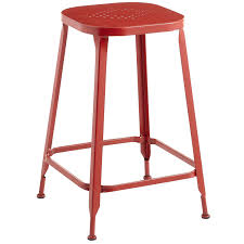 Counter Stool Backless Weldon Red Backless Counter Stool Pier 1 Imports