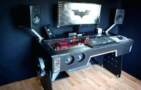 gaming desk designs computer desk gaming premium choice rating hip black glass corner