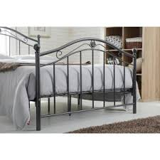 Silver Metal Headboards by Hodedah Black Silver Full Size Metal Panel Bed With Headboard And