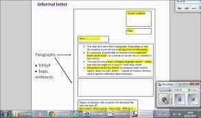 informal letter youtube