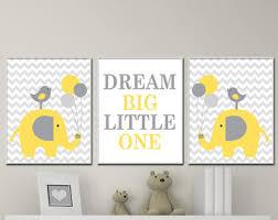 Grey And Yellow Nursery Decor by Elephant Nursery Etsy