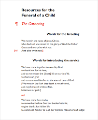 Funeral Ceremony Program Sample Child Funeral Program Template 6 Free Documents Download